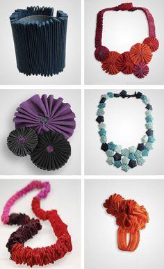 Marina Callis fiber jewelry