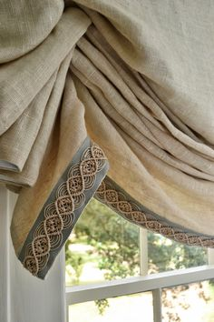 the right trim can make the drape. Samuel and Sons Passementerie #trim Available through #threetreesinteriors