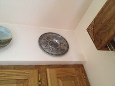 Decorative pewter plate