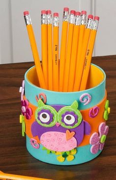 Foam crafts, crafts to do, diy crafts for kids, back to school craf Kids Crafts, Diy And Crafts Sewing, Foam Crafts, Diy Crafts For Kids, Crafts To Sell, Diy Niños Manualidades, Diys, Pencil Cup, Online Craft Store