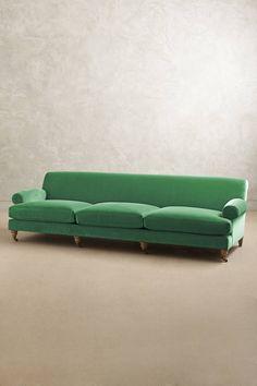 Slide View: 1: Velvet Willoughby Grand Sofa, Wilcox