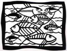 Carole's Creative Corner: Paper Cutting: Something Fishy
