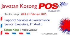 Jawatan Kosong POS Malaysia Februari 2015 di Kuala Lumpur. #posmalaysiajobs2015 #jawatankosongposmalaysia #kerjakosongposmalaysia