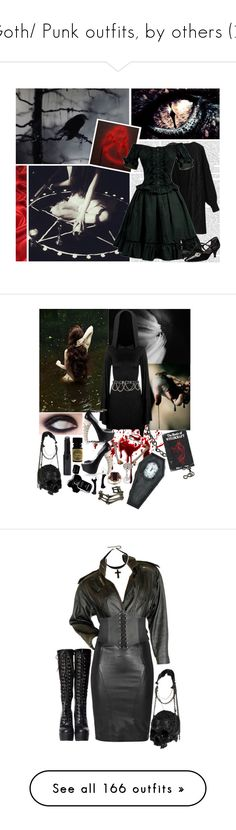 """Goth/ Punk outfits, by others (2)"" by sakura-chan-cxcvi ❤ liked on Polyvore featuring Chanel, Alex and Chloe, Alexander McQueen, My Enemy, SLY 010, L.A. ROXX, Frieling, Yves Saint Laurent, Dorothy Perkins and AllSaints"