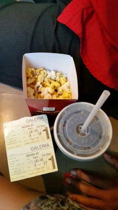 Popcorns, Coke, Movies Tickets. Yeyyyy