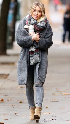 Hilary Duff wears a faux fur with colorful scarf, skinny jeans and ankle booties. Get more style inspiration by watching Younger. Get inspired. New episodes Wednesdays at 10/9C on TV Land. Discover full episodes at http://www.tvland.com/shows/younger.