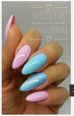 67 Ideas for nails acrylic designs teal manicures Cute Acrylic Nails, Pastel Nails, Acrylic Nail Designs, Pink Nails, Glitter Nails, My Nails, Nails Turquoise, Colorful Nails, Girls Nails