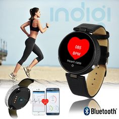 Universal Leather SmartWatch - Bluetooth 4.0 - Heart Rate - Pedometer [Fitness Tracker] - Siri Voice Control for iOS. Universal Compatibility - iOS or Android! The M365 SmartWatch is Capable of syncing with either platforms! Can even use Siri directly from your watch!. Ringtone & Vibration - M365 rings and vibrates, showing incoming phone numbers. Answer directly from your wrist - no more missed calls. Heart Rate Monitor & Pedometer - Kick Start your health by keeping track of your BPM…
