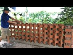 Design Discover Used From Bricks To Design And Construct A Garden Fence For The House - Build Beautiful Fences Building A Fence Building A House Brick Fence Brick Wall Brick Texture Wall Panels Small House Design Home Design Plans Wall Design Brick Fence, Brick Facade, Wood Fences, Garden Fences, Building A Fence, Building A House, Compound Wall Design, Brick Projects, Brick Patterns Patio