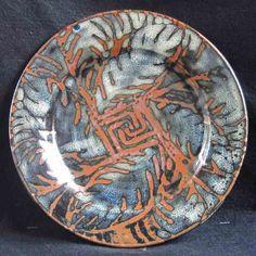 Wax resist jun over tenmoku dinner plate County Mayo, Ceramic Artists, Dinner Plates, Jun, Stoneware, Decorative Plates, Clay, Ceramics, Dishes