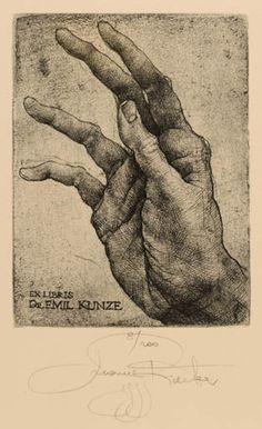 Art-exlibris.net - Bookplate by Marina Richter for Dr. Emil Kunze (1999) : Klaus Rödel (cassette: 66 No. 6)