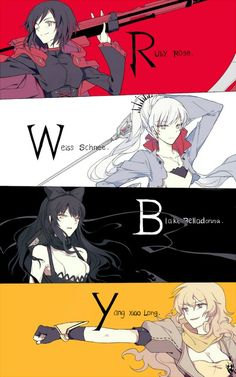 RWBY is a web animation series created by Rooster Teeth Productions. The RWBY team includes protagonist and leader . Anime Meme, Rwby Anime, Rwby Manga, Rwby Fanart, Manga Art, Manga Anime, Rwby Weiss, Red Like Roses, Fan Art Anime