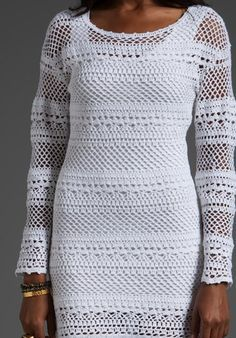 crochet net dress