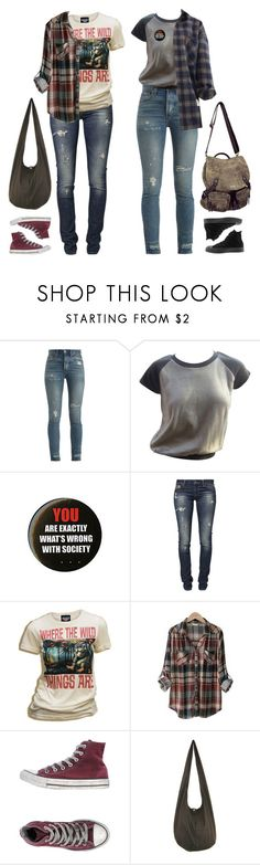 """""""I've Always Had A Bark Without A Bite"""" by melancholymaven ❤ liked on Polyvore featuring RE/DONE, Louis Vuitton, Hot Topic, GUESS, Junk Food Clothing, PEPER, Converse and Roxy"""
