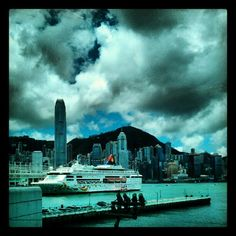 View of Star Cruises Star Pisces ship in Hong Kong Star Pisces, Cruises, Hong Kong, Singapore, New York Skyline, Ship, Stars, Places, Books