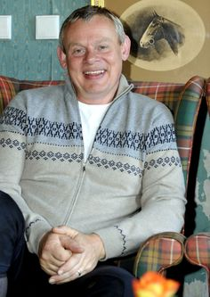 Martin Clunes smiling