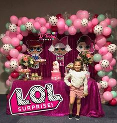 LOL Surprise Dolls Balloon Arch 6th Birthday Parties, Birthday Bash, Surprise Birthday, Birthday Ideas, Lol Doll Cake, Doll Party, Lol Dolls, Bday Girl, Baby Party