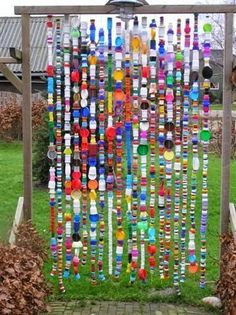 Are You Looking For Gardening Advice? Read On - Home Deco & .-Are You Looking For Gardening Advice? Read On – Home Deco & Gardening Tips Are You Looking For Gardening Advice? Read On ** You can find more details by visiting the image link. Yard Art, Sensory Garden, Sensory Play, Bottle Cap Art, Plastic Bottle Caps, Recycled Plastic Bottles, Bottle Wall, Garden Whimsy, Outdoor Classroom