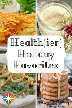 Health(ier) Holiday Favorites. Enjoy your favorite holiday foods without sacrificing flavor. | via @SparkPeople