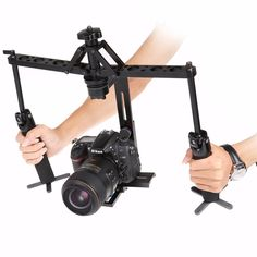Portable 2-Axis Handheld #Stabilizer #Video Gimbal #Steadicam Steady for DSLR #Camera DV BMPCC