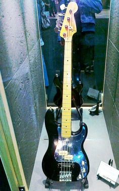 The late Phil Lynott of Thin Lizzy. One of his custom Fender basses...