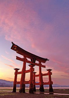 O-Torii Gate (grand gate of Itsukushima shrine, world heritage site) #japan #hiroshima
