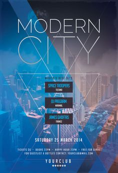 Modern City Flyer by styleWish on Graphicriver (PSD Template)