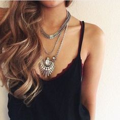 Silver edgy trend Necklace Silver statement Necklace Nwt retail Hwl boutique Jewelry Necklaces