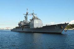 Navy The Ticonderoga-class guided-missile cruiser . Ticonderoga Class, Mass Communication, United States Navy, Submarines, Coast Guard, View Image, Yokosuka Japan, This Is Us, Nov 21