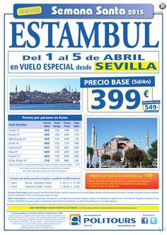 """ESTAMBUL""""S. Santa"""" sal. 1 y 2 de Abril dsd vll, svq, bio y zaz (5d/4n) precio final dsd 549€ ultimo minuto - http://zocotours.com/estambuls-santa-sal-1-y-2-de-abril-dsd-vll-svq-bio-y-zaz-5d4n-precio-final-dsd-549e-ultimo-minuto/"""
