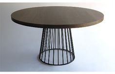 Round modern dining table