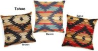 Tahoe Collection Decorative Throw Pillows. Available in 13 x 26, 17 x 17, & 26 x 26 sizes by Creative Home Furnishings from Kellsson Home Linens.