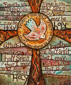 Religious Images, Religious Art, Religious Education, Scripture Art, Bible Art, Holy Spirit Prayer, Holy Art, Cross Art, Spiritus