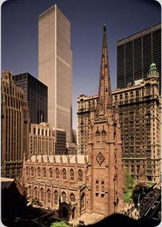 Vintage, pre-2001, Trinity Church, NYC, www.RevWill.com