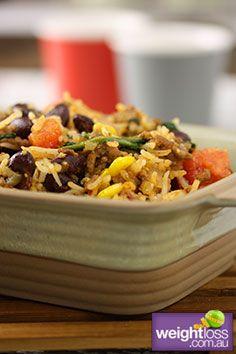 Mexican Beef & Beans. #HealthyRecipes #DietRecipes #WeightLossRecipes weightloss.com.au