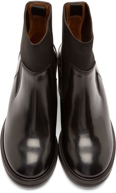 Acne Studios Black Leather Dion Boots