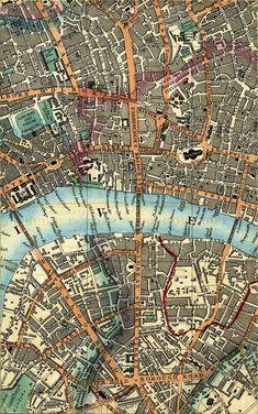 London map detail 1844