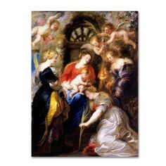 Trademark Fine Art 'Crowning Of Saint Catherine' Canvas Art by Peter Paul Rubens, Red