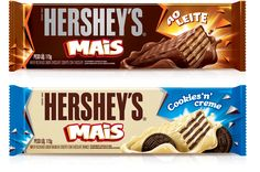 Packaging for Hershey's Mais, a chocolate covered wafer biscuit.