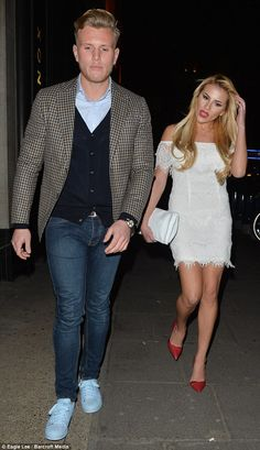 Date night: Tommy Mallet andGeorgia Kousoulou dressed up for the fundraiser in London...