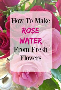 How to make rose water (for recipes) using fresh flowers! #diy #recipe #rosewater | www.thefoodieaffair.com