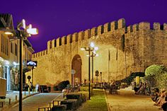 Ramparts and fortifications at Ano poli, THESSALONIKI