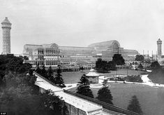 Flashback: The giant Crystal Palace centre before it was destroyed in a fire in 1936. The new building will be a replica of the original and cost around £500million