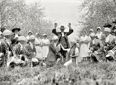 """April 25, 1925. """"Apple Blossom Festival at Winchester, Virginia."""" Our second glimpse at these curious goings-on. National Photo Co. View full size."""