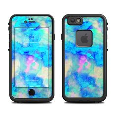 DecalGirl Lifeproof iPhone 6 Fre Case skins feature vibrant full-color artwork that helps protect the Lifeproof iPhone 6 Fre Case from minor scratches and abuse without adding any bulk or interfering with the device's operation.   This skin features the artwork Electrify Ice Blue by Amy Sia - just one of hundreds of designs by dozens of talented artists from around the world.