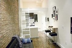 Chelsea apartment rental - View of Loft Bed Area & Kitchen