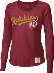 Washington Redskins Retro Sport Women's Long Sleeve Tailsweep Waffle Shirt