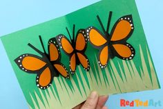 Super easy Pop Up Butterfly Card for kids to make. A perfect pop up card idea for Birthdays, Mother's Day, Teachers and more. Easy paper butterflies!