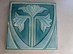 FLORAL! NStG  Jugendstil Fliese art nouveau tile tegel Kachel