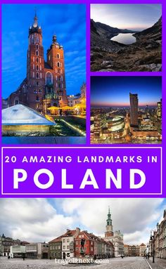 20 Incredible Landmarks in Poland. Poland offers incredible diversity in its history and landscape. From towering mountain ranges to picturesque villages, quirky homes to memorials from wars, Poland is filled with incredible and thought-provoking landmarks. #polish #travel #polandtrips #warsaw #travelideas #poland #europe